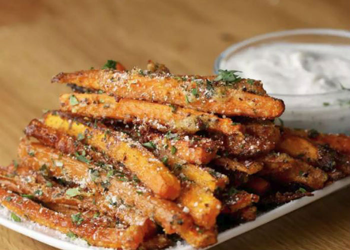 Garlic Rosemary Carrot Fries