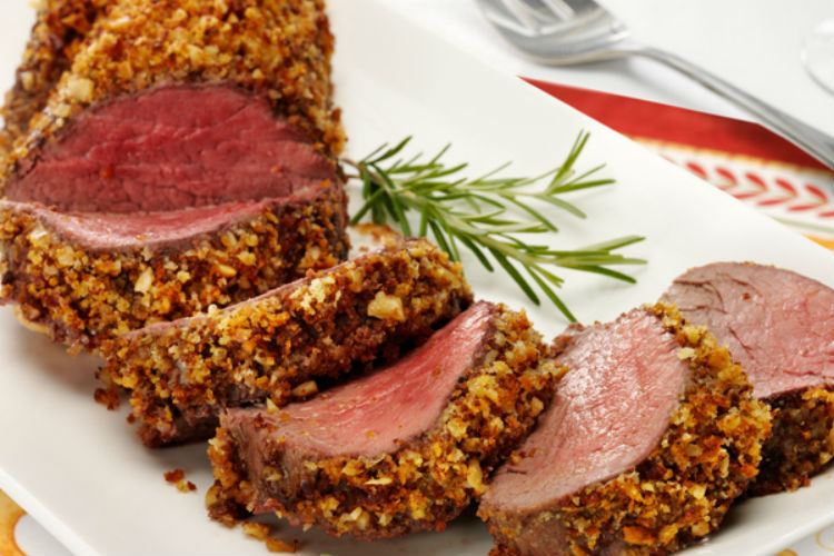 Walnut Crusted Beef Tenderloin