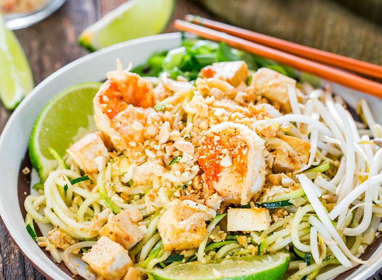 Zoodle Shrimp Pad Thai